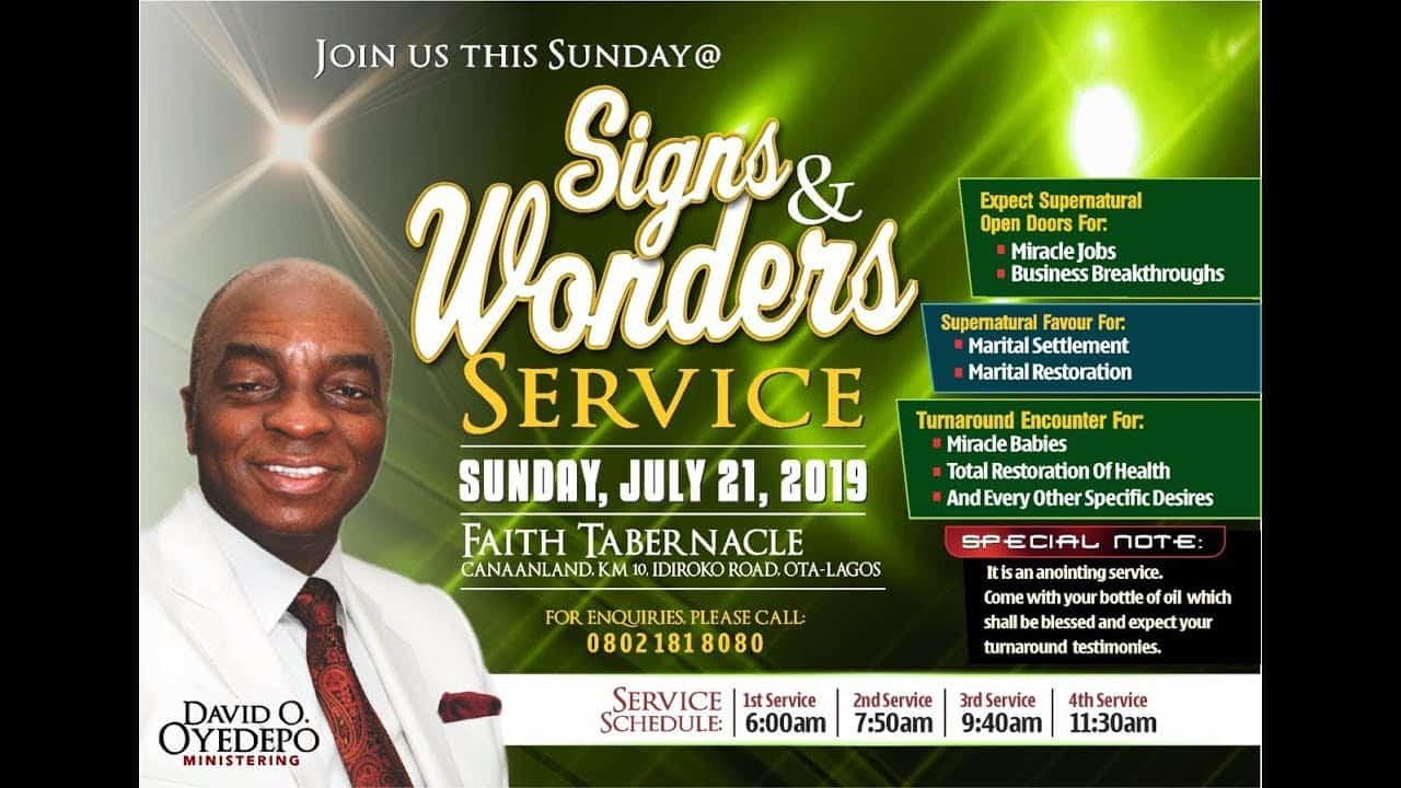 Winners' Chapel Live Service 21 July 2019 with Bishop David Oyedepo