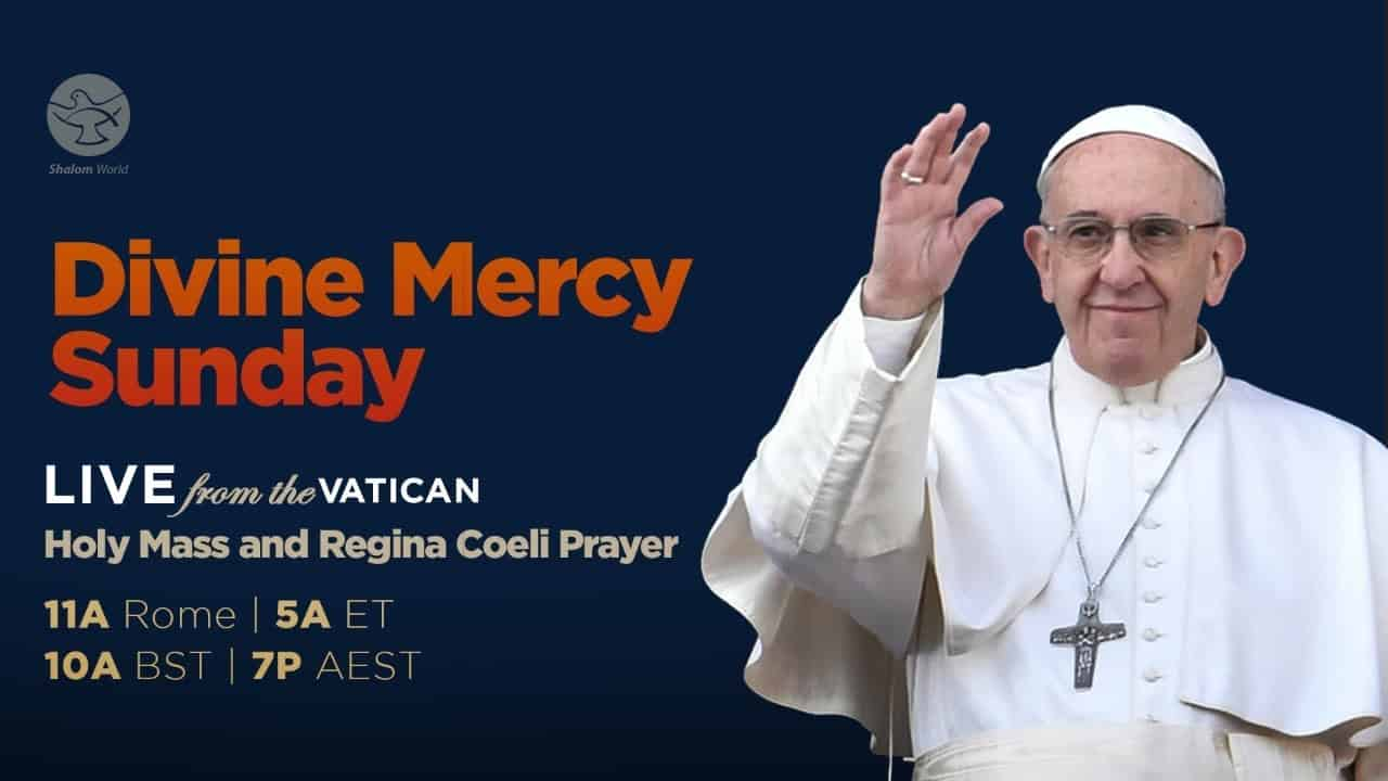 Divine Mercy Sunday Holy Mass and Regina Coeli 19th April 2020