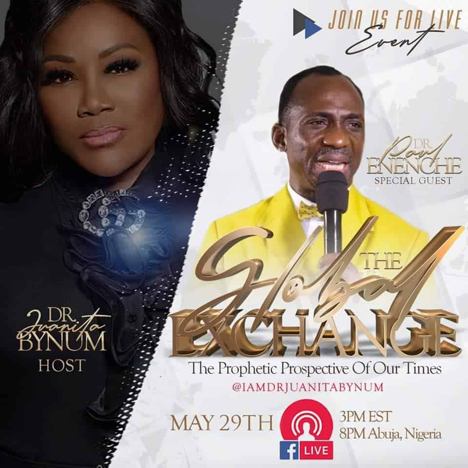 Watch Dr. Paul Enenche & Dr. Juanita Bynum 29 May 2020