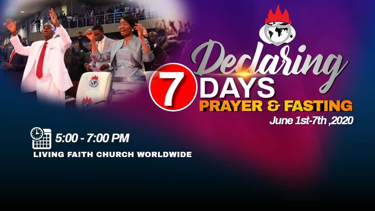 Photo of Winners' Chapel 7 Days Fasting And Prayer 2nd June 2020 – Day 2
