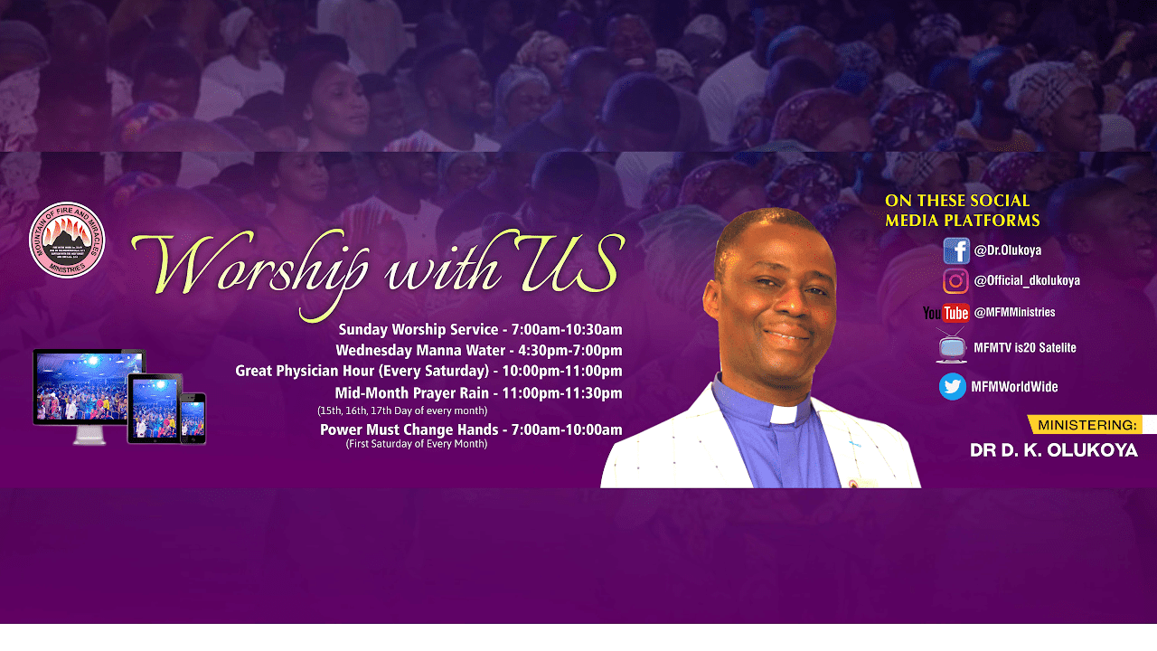 Photo of MFM Sunday Service 4 October 2020 by Dr D. K. Olukoya