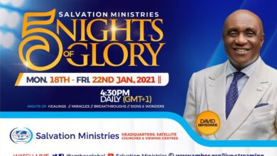 5Nights of Glory 2021 with Pastor David Ibiyeomie - Salvation Ministries