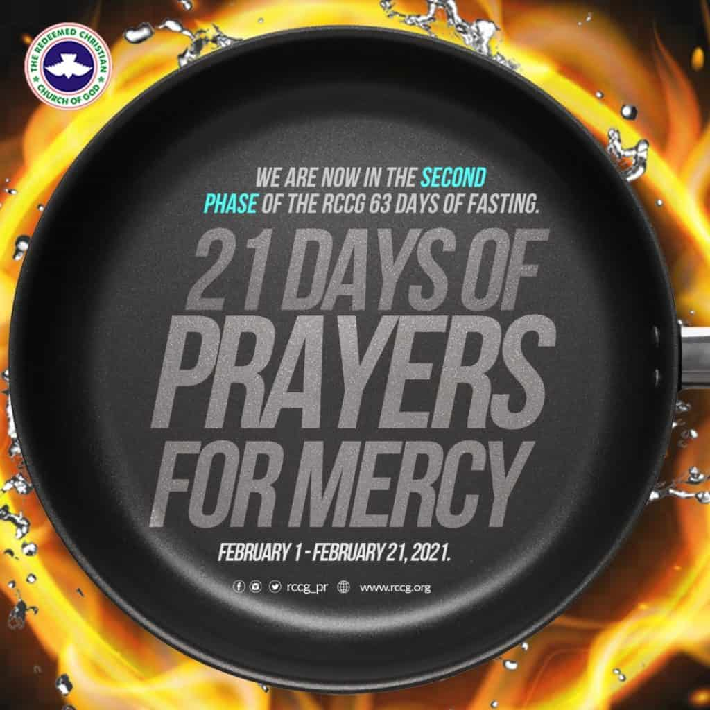 RCCG 21st February 2021 Fasting And Prayer Points Day 21